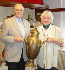 Die Organisatoren: Doris Wolken und Winfried Hoppe